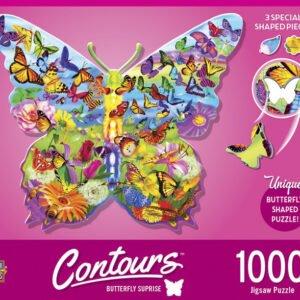 Contours - Butterfly Surprise 1000 Piece Puzzle - Masterpieces