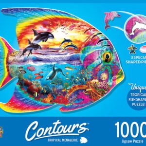 Contours - Tropical Menagerie 1000 Piece Shaped Jigsaw Puzzle - Masterpieces