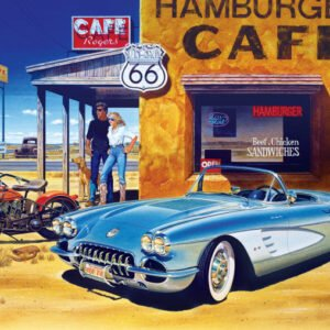 Cruisin Route 66 Cafe 1000 Piece Puzzle - Masterpieces