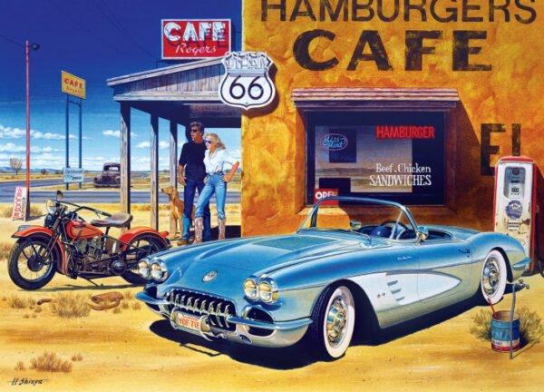 Cruisin Route 66 Cafe 1000 Piece Puzzle - Masterpieces
