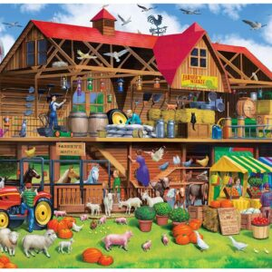 Cutaway - Family Barn 1000 Piece Ez Grip Puzzle - Masterpieces