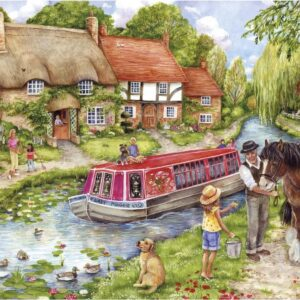 Drifting Down Stream 100 XXL Piece Puzzle - Gibsons