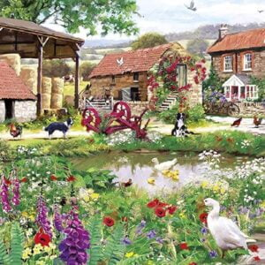 Duckling Farm 636 Piece Panoramic Puzzle - Gibsons