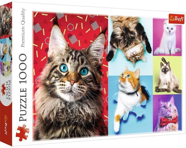 Happy Cats 1000 Piece Puzzle - Trefl
