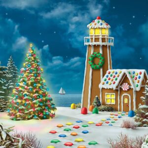 Holiday Glitter Gingerbread Lighthouse 500 Piece Puzzle - Masterpieces