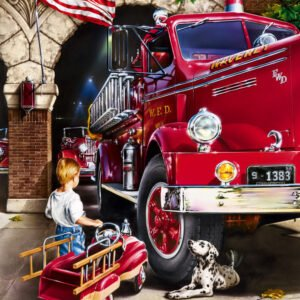 Hometown Heroes - Firehouse Dreams 1000 Piece Puzzle - Masterpieces