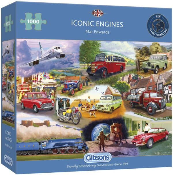 Iconic Engines 1000 Piece Puzzle - Gibsons