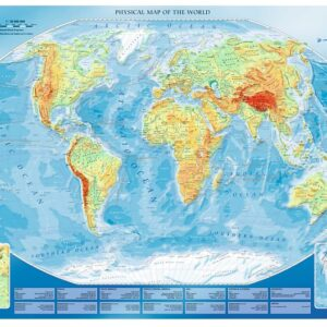 Large Physical Map of the World 4000 Piece Puzzle - Trefl