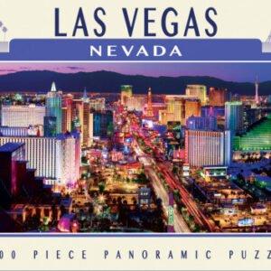 Les Vegas Nevada 1000 Piece Panoramic Puzzle - Masterpieces