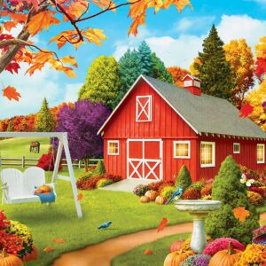 Memory Lane - Harvest Breeze Ez Grip 300 Large Piece Puzzle - Masterpieces