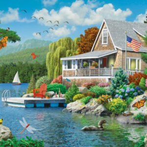 Memory Lane - Lakeside Memories Ez Grip 300 Large piece Puzzle - Masterpieces