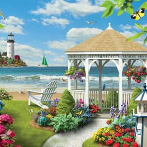 Memory Lane - Oceanside View Ez Grip 300 large Piece Puzzle - Masterpieces