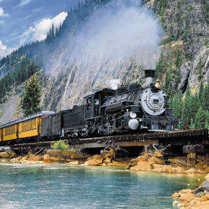 Mountain Train 500 Piece Puzzle - Trefl