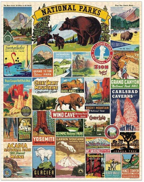 National Parks 1000 Piece Puzzle - Cavallini & Co