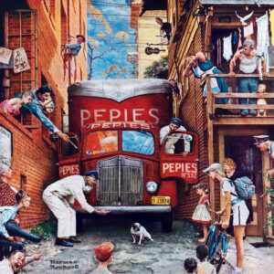 Norman Rockwell - Road Block 1000 Piece Puzzle - Masterpieces