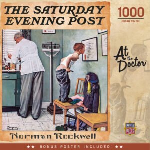 Norman Rockwell - Saturday Evening Post - At the Doctor 1000 Piece Puzzle - Masterpieces