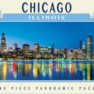 Panoramic Puzzle - Chicago Illinois 1000 piece - Masterpieces