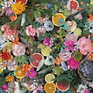 Paper Flowers 1000 Piece Puzzle - Gibsons
