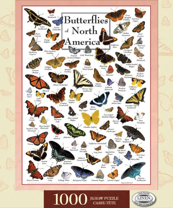 Poster Art - Butterflies of North America 1000 Piece Puzzle - Masterpieces