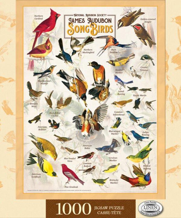 Poster Art - Audubon Song Birds 1000 piece Puzzle - Masterpieces
