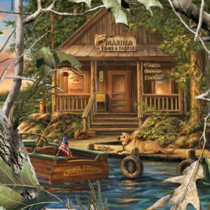 Realtree - Gone Fishing 1000 Piece Puzzle - Masterpieces