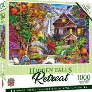 Retreat - Hidden Falls 1000 Piece Puzzle - Masterpieces
