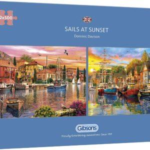 Sails Set 2 x 500 Piece Puzzle - Gibsons