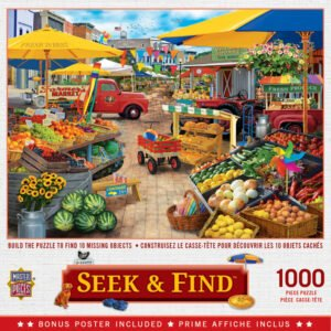 Seek & Find - Market Square 1000 Piece Puzzle - Masterpieces