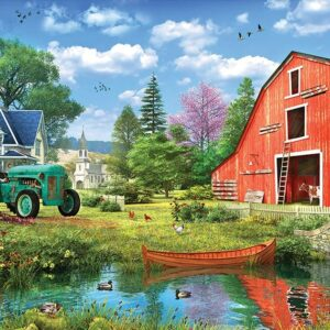 The Red Barn 1000 Piece Puzzle - Eurographics