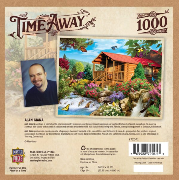 Time Away - Cascading Cabin 1000 Piece Puzzle - Masterpieces