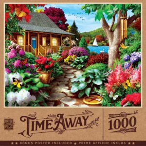 Time Away - Dragonfly Garden 1000 Piece Puzzle - Masterpieces