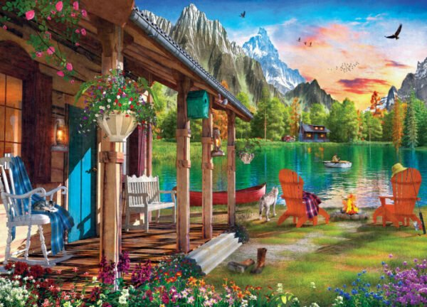 Time Away - Evening on the Lake 1000 Piece Puzzle - Masterpieces
