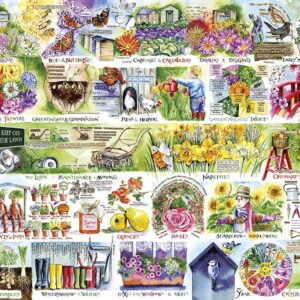 Wheelbarrows & Wellies 1000 Piece Puzzle - Gibsons