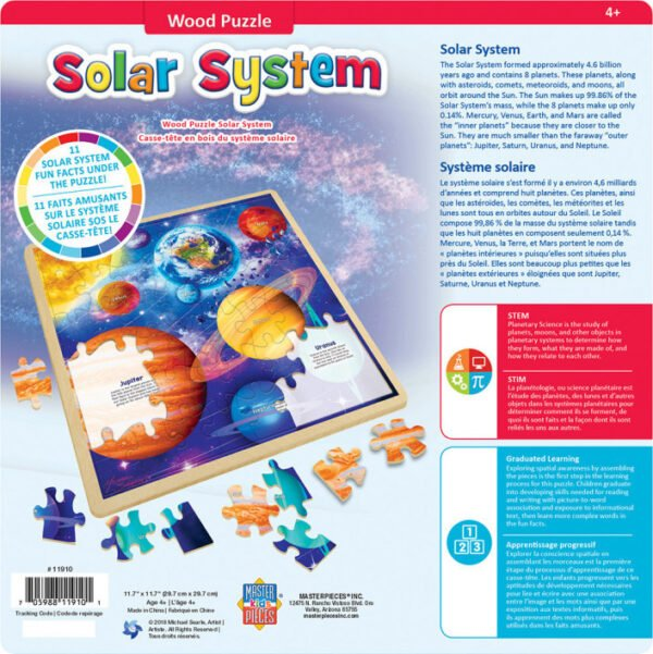 Wood Fun Facts Solar System 48 Piece Puzzle - Masterpieces