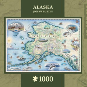 Xplorers Map - Alaska 1000 Piece Puzzle - Masterpieces