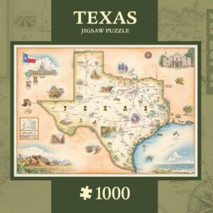 Xplorers Map - Texas 1000 Piece Puzzle - Masterpieces