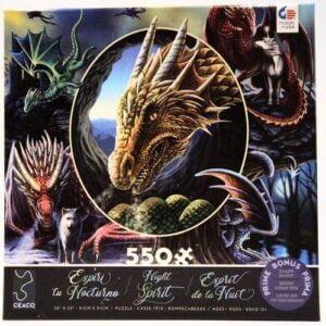 Night Spirit Dragons 550 Piece Puzzle - Ceaco