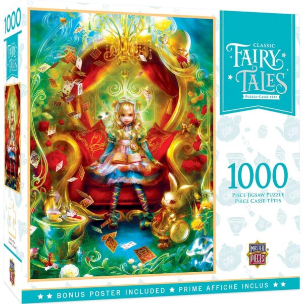 Classic Fairy Tales - Alice in Wonderland Tea Party Time 1000 Piece Puzzle - Masterpieces