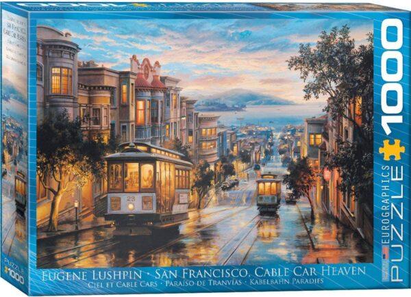 Lushpin - San Francisco Cable Car Heaven 1000 Piece Puzzle - Eurographics