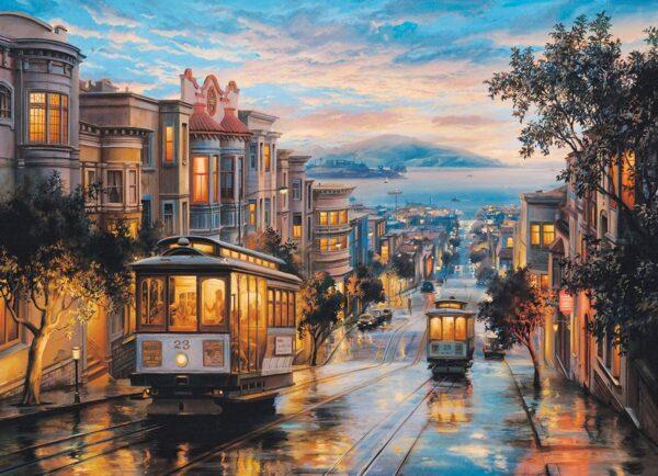 Lushpin - San Franciso Cable Car Heaven 1000 Piece Puzzle - Eurographics
