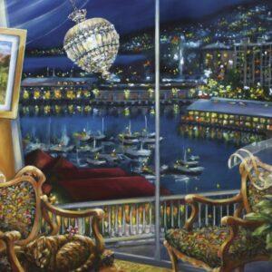 Night Breeze 1000 Piece Jigsaw Puzzle - Blue Opal
