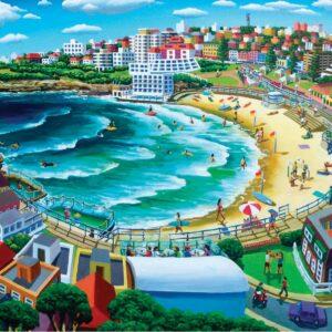 Stephen Evans - Bondi Beach 1000 Piece Puzzle - Blue Opal