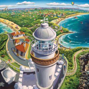 Stephen Evans - Byron Bay 1000 Piece Puzzle - Blue Opal