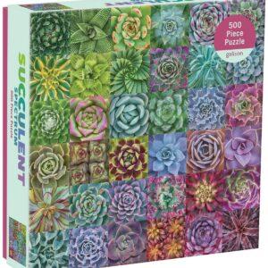 Succulent Spectrum 500 Piece Jigsaw Puzzle - Galison