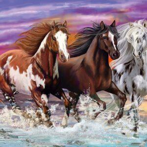 Trio of Wild Horses 200 Piece Puzzle - Schmidt