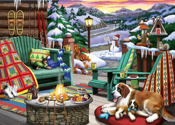 Apres all Day 500 Large Piece Format Puzzle - Ravensburger