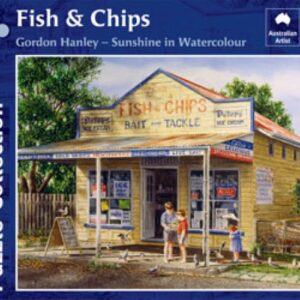 Gordon Hanley - Fish and Chips 1000 Piece Puzzle - Blue Opal