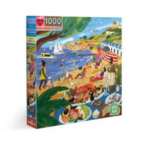 Beach Umbrellas 1000 Piece Jigsaw Puzzle - eeBoo