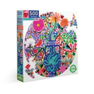 Birds and Flower 500 Piece Jigsaw Puzzle - eeBoo
