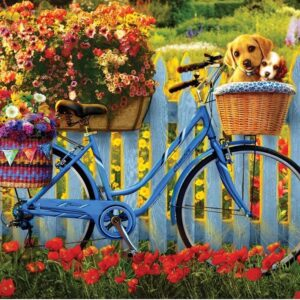 Fur and Feathers - Pedal Pups Adventure 1000 Piece Jigsaw Puzzle - Holdson